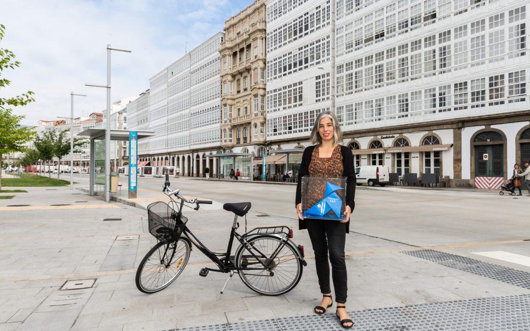 La Pajarita Azul, deslumbrada en A Coruña, la ciudad de cristal