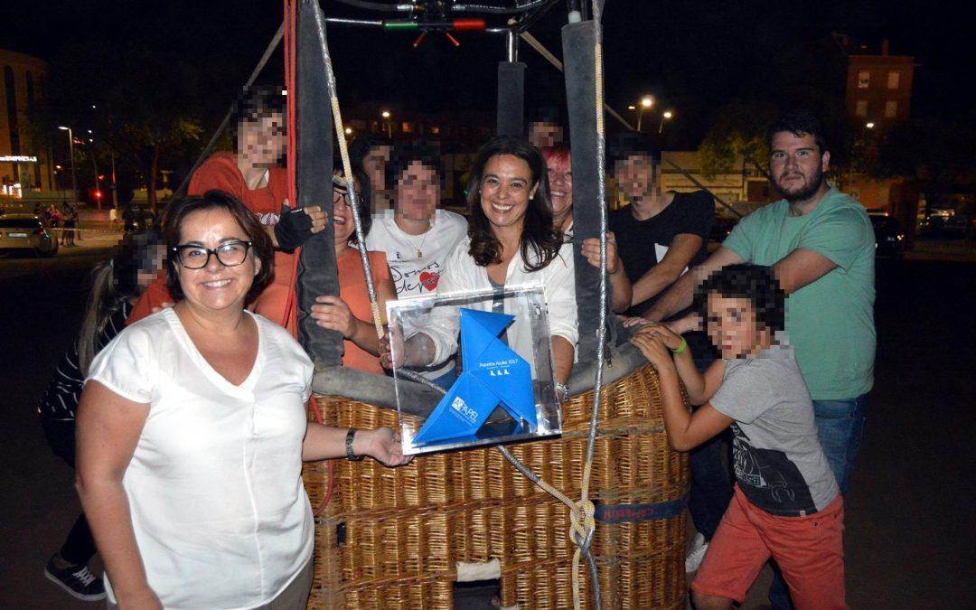 La Pajarita Azul llega a Ciudad Real en globo