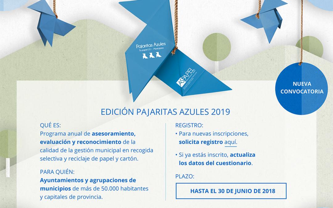 La edición 2019 del Programa Pajaritas Azules ya está en marcha
