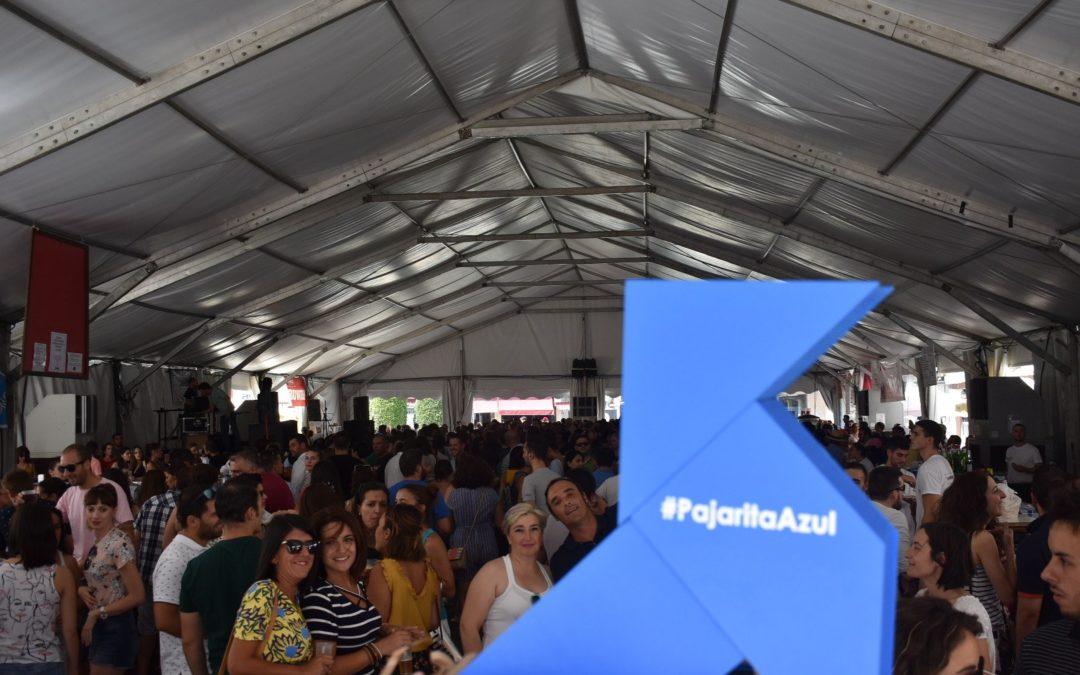 Una Pajarita Azul anida en Ciudad Real en plenas fiestas para promover el reciclaje