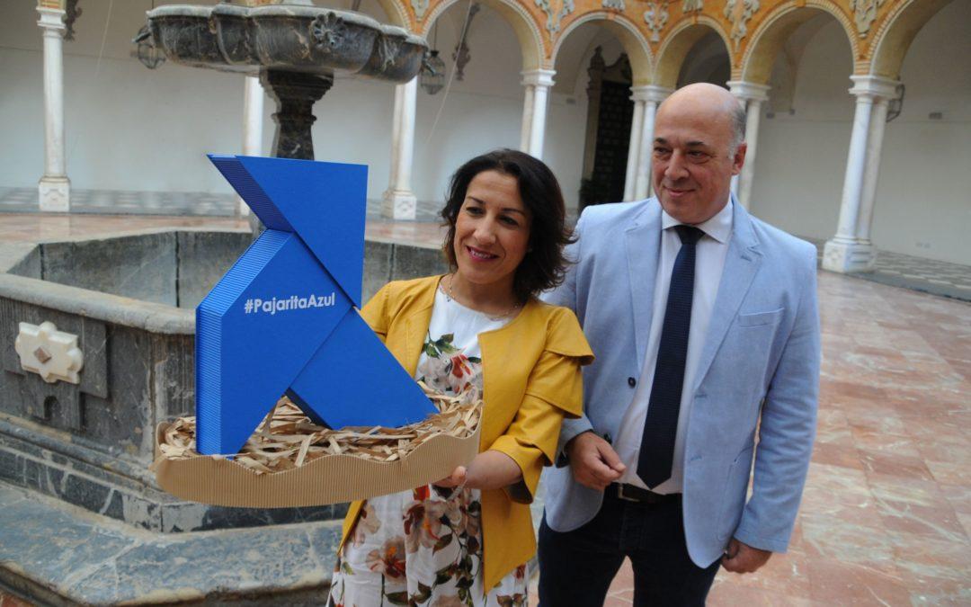 Una Pajarita Azul anida en la Diputación de Córdoba para viajar por toda la provincia