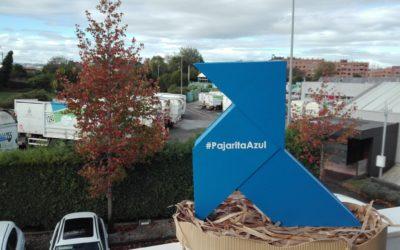Una Pajarita Azul anida en las instalaciones gijonesas de EMULSA, en su 40 aniversario