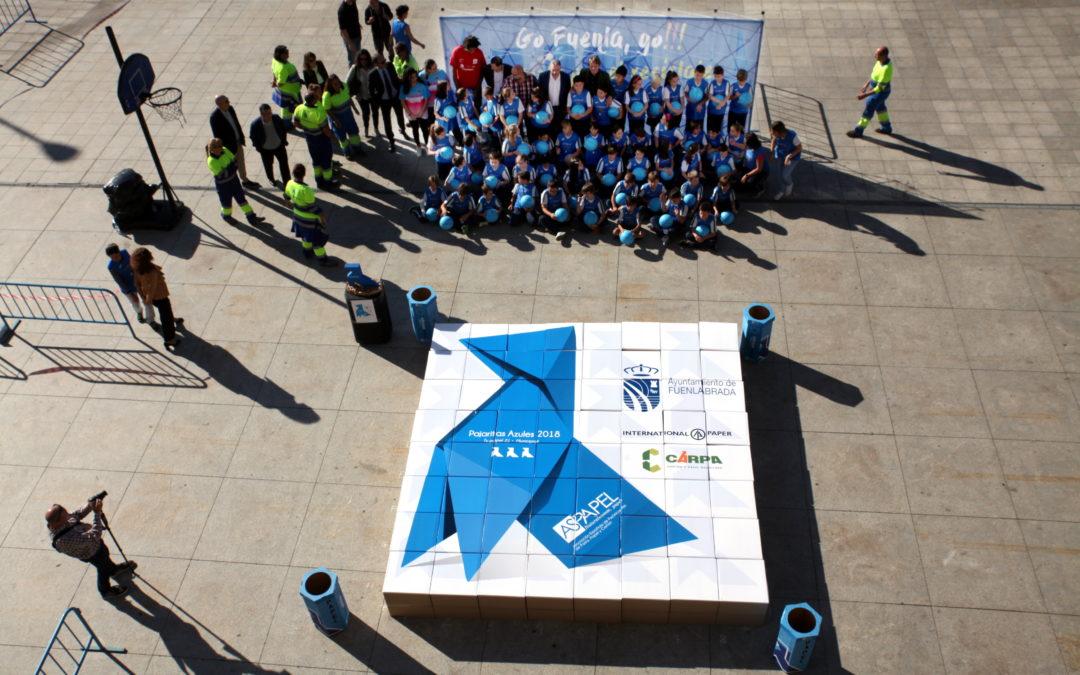 Una Pajarita Azul anida en Fuenlabrada y marca un triple por el reciclaje