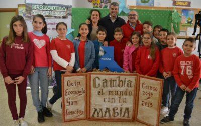 Pajarita Azul en San Fernando, con el Comité Medioambiental del CEIP San Ignacio