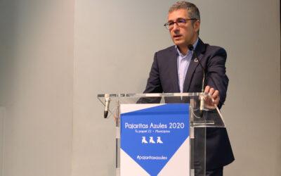 Hugo Morán, secretario de Estado de Medio Ambiente, entrega las Pajaritas Azules 2020