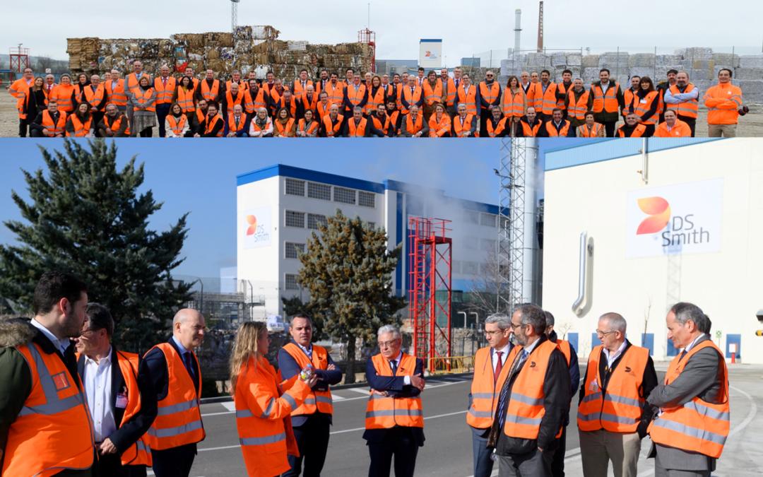 Visita a la fábrica de papel reciclado y de packaging de DS Smith en Dueñas